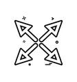 arrow cross fourway icon design vector image