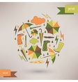 Autumn abstract background simple shapes and vector image