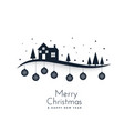 awesome winter scene for merry christmas festival vector image vector image