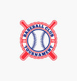 baseball logo badge-2 vector image vector image