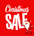 big christmas sale with santa vector image