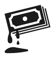 blood money icon simple style vector image