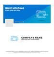 blue business logo template for folder repair vector image