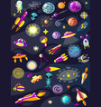 cartoon space set elements vector image