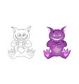 cat like demon cartoon character for kid isolated vector image vector image