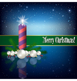 Celebration greeting with Christmas candle and vector image