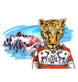 cheetah in mountains vector image vector image