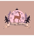 christmas and new year logo emblem vector image vector image