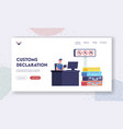 customs officer work landing page template male