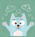 cute baby cat characters love vector image vector image