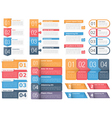 Design Elements with Numbers and Text vector image vector image