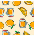 doodle orange drink theme art vector image vector image