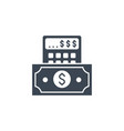financial calculate related glyph icon vector image