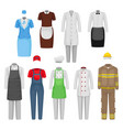 flat set of staff clothing clothes of vector image