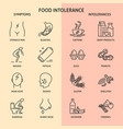 food intolerance icon collection in line style vector image