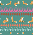 fox leaves seamless repeat pattern vector image vector image