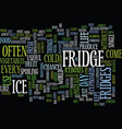 fridges a brief history on how they have evolved vector image vector image