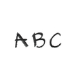 Hand drawn chalk abc vector image