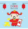 happy chinese new year 2019 children boy vector image