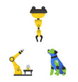 isolated object of robot and factory symbol set vector image vector image