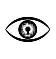keyhole in human eye simple logo icon vector image