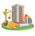 Living Block Construction vector image