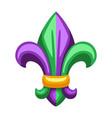 mardi gras fleur de lis heraldic symbol vector image