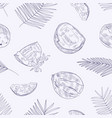 monochrome seamless pattern with ripe fresh vector image