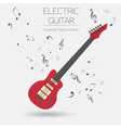 Musical instruments graphic template Electric vector image