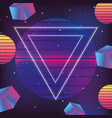 neon geometric texture and fashion graphic vector image