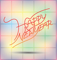 New Year fonts beautifully designed vector image vector image