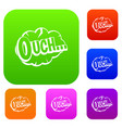 ouch speech cloud set color collection vector image vector image