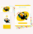 party invitation template with funny toucan vector image vector image
