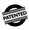 patented stamp on white vector image vector image