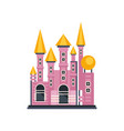 pink fairytale princess castle vector image vector image