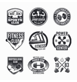 Power Fitness Logo Set vector image