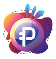 Purple bubble with paysbook logo and colorful