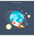 Rocket icon World travel concept background vector image vector image