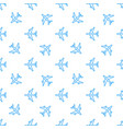 seamless aircraft pattern flying line vector image vector image