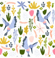 seamless childish pattern with colorful collibri vector image vector image