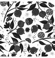 seamless pattern black and white lemons vector image