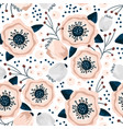 seamless pattern with flowers in pastel colors vector image vector image