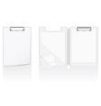 set of white blank folder vector image