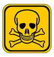 Skull danger sign vector image vector image