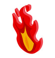 smoking pipe fire icon isometric style vector image vector image