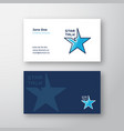 star talk abstract logo and business card vector image