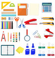 stationery set icons vector image
