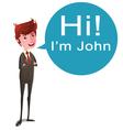 Talking Businessman vector image