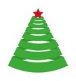 tree pine christmas icon vector image