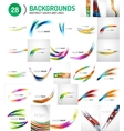 Universal huge mega set of abstract backgrounds vector image vector image